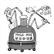 mega maid, invention